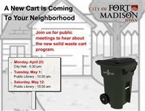 Public Meeting Announcement for Solid Waste Trash Container Program