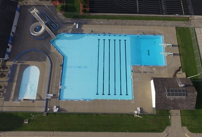 Fort Madison YMCA Swimming Pool Aerial